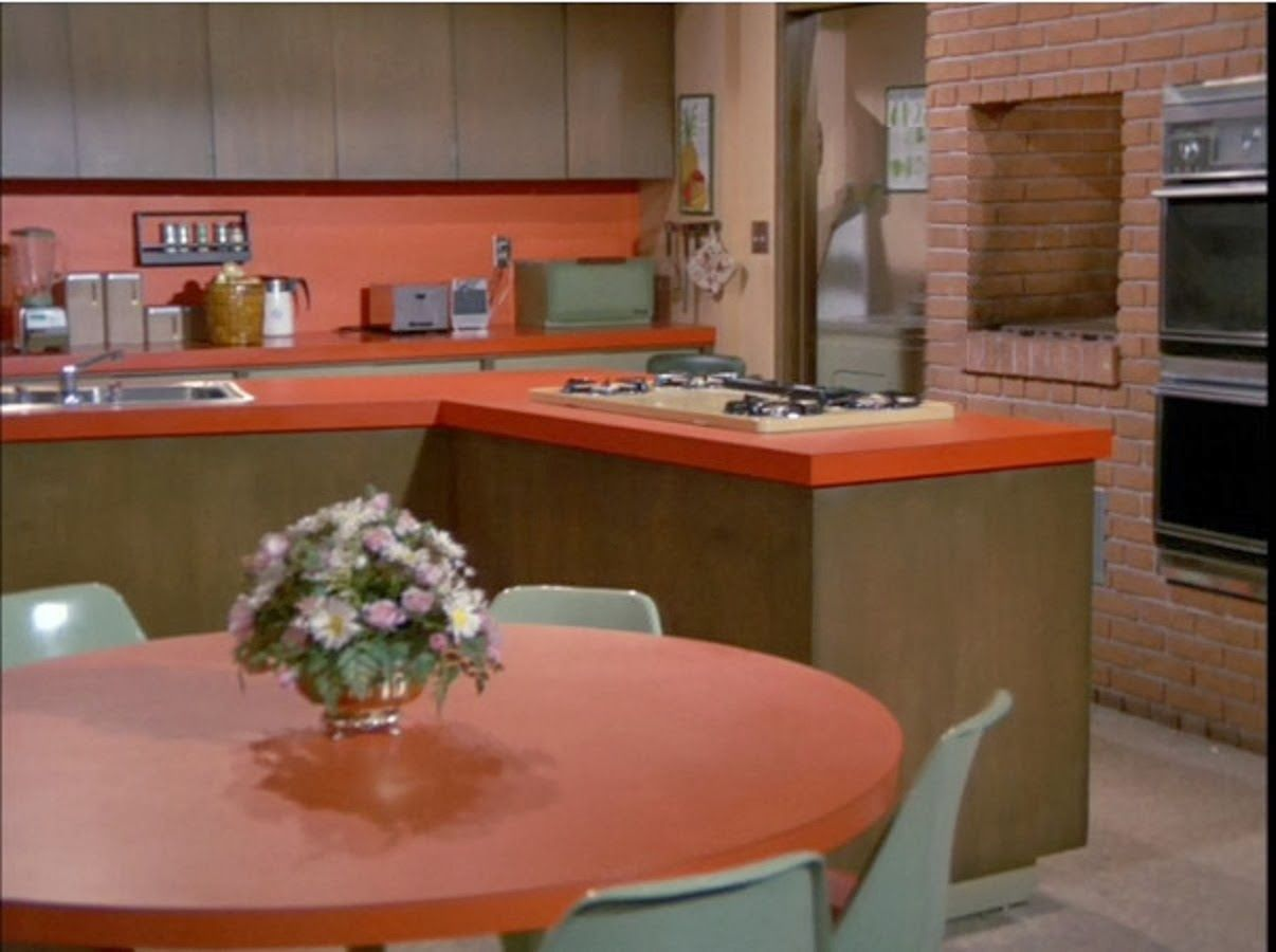 the brady bunch - kitchen set | 60's decor | pinterest | kitchen