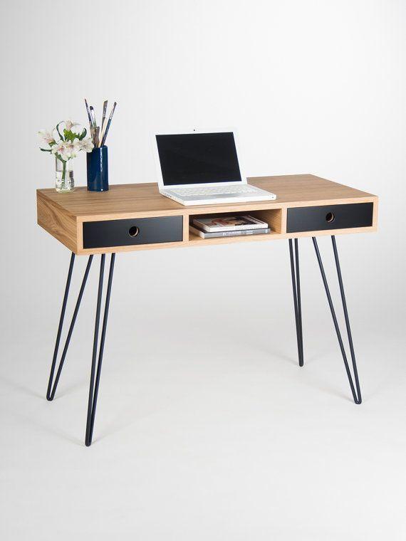 Desk Computer Desk Office Desk Desk With Drawers Desk With Storage Scandinavian Design Mid Cen Home Office Desks Office Desk Designs Modern Computer Desk