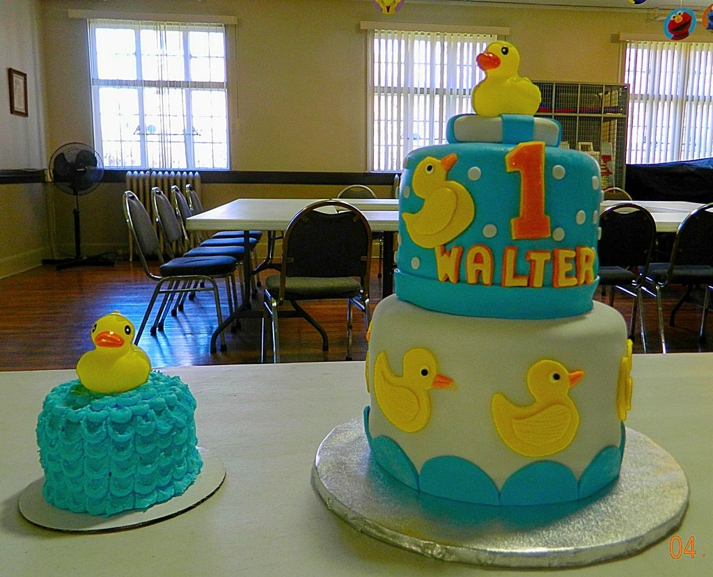 Incredible Rubber Ducky 1St Birthday Cake And Smash Cake With Images Funny Birthday Cards Online Inifofree Goldxyz