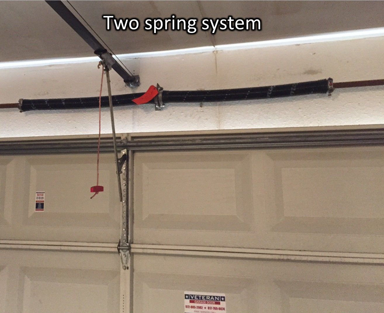 Photo Two Spring System Tube Garage Door Torsion Internachi Inspection Forum Hidup Gaya Hidup