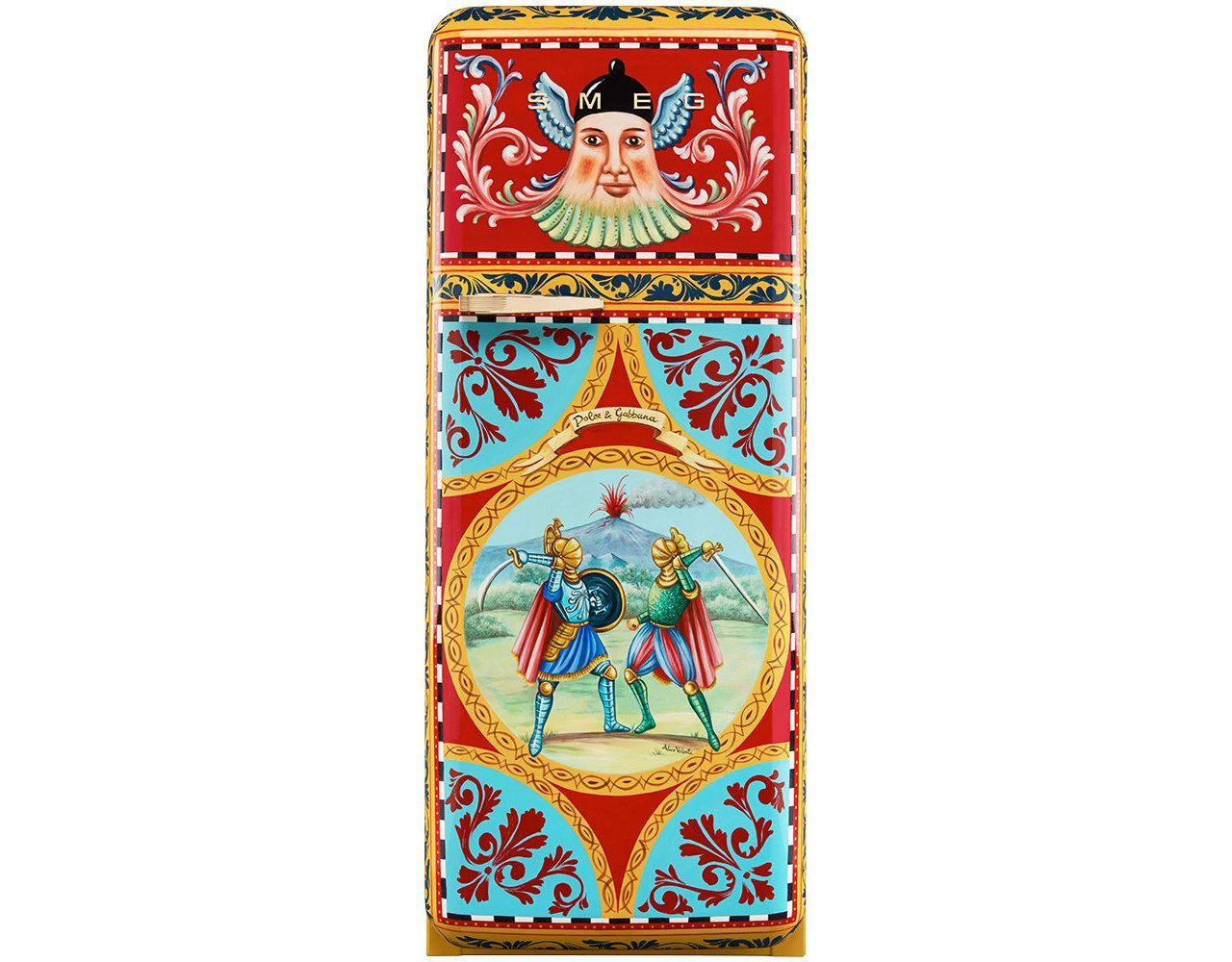 Artistic fridge, unique model Artist: Alice Valenti #interdema #fashion #design #limitededition #Smegfridge #DolceGabbana #FAB28 #дизайн #мода