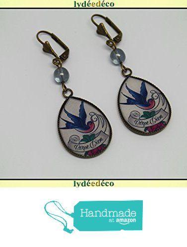 Boucles d'oreilles rétro résine Oiseau Carpe Diem blanc bleu rose laiton bronze perles verre pendentifs gouttes 25mm attaches coquillage à partir des Lydee Deco https://www.amazon.fr/dp/B073XQ81QP/ref=hnd_sw_r_pi_dp_.4sAzbB8VCEDY #handmadeatamazon