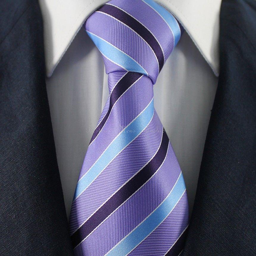 Orchid-Blue & Black #StripedNeckties / #FormalBusinessNeckties from #BestowMensFashion VIsit to know more: http://bestowneckties.ca/orchid-blue-black-striped-neckties-formal-business-neckties.html