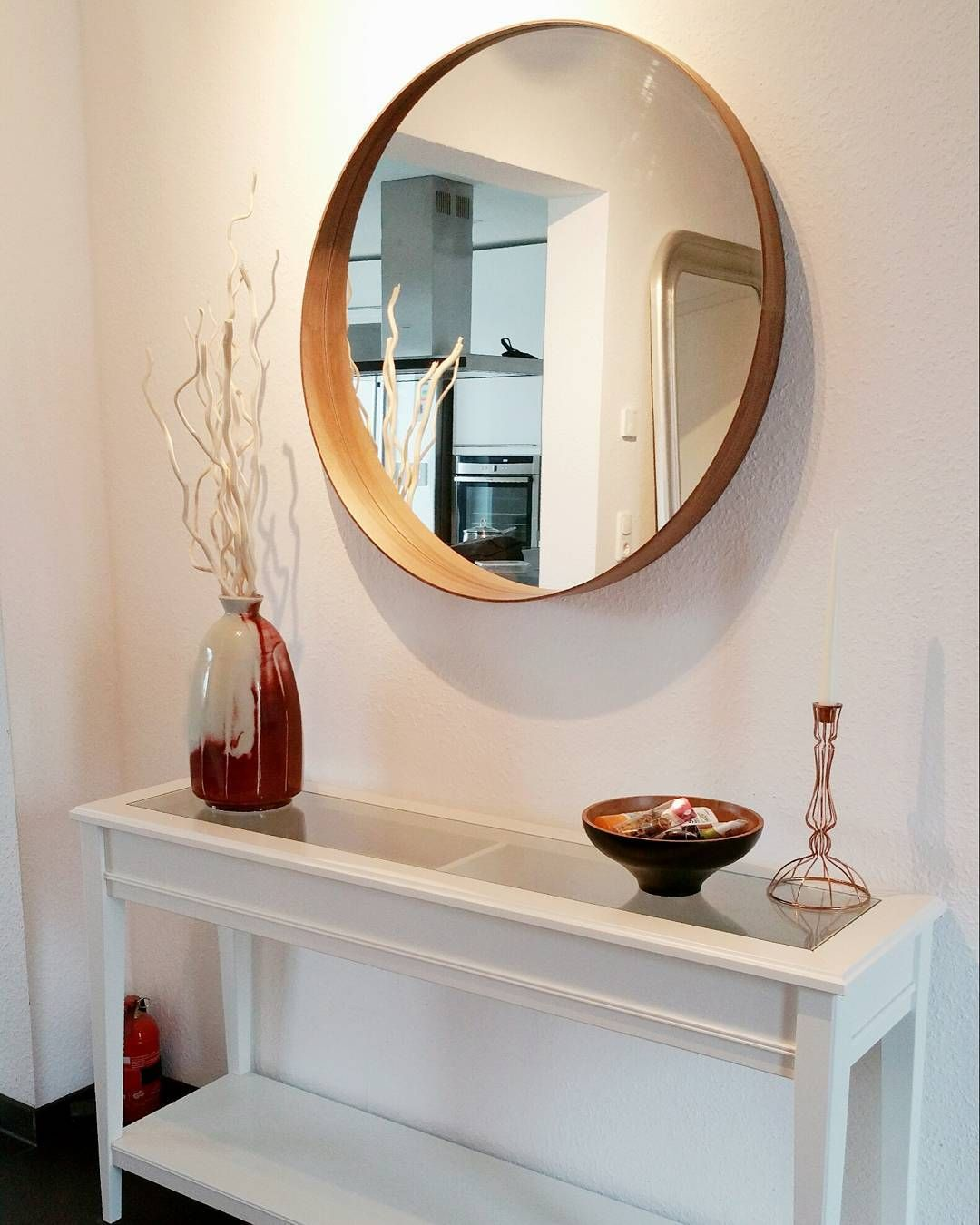 beautiful simple entryway ikea 39 stockholm 39 mirror 39 liatorp 39 console table wooyoun81. Black Bedroom Furniture Sets. Home Design Ideas