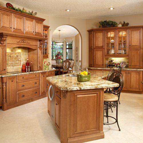 "10K Traditional ""oak Cabinets"" Kitchen Design Ideas ..."