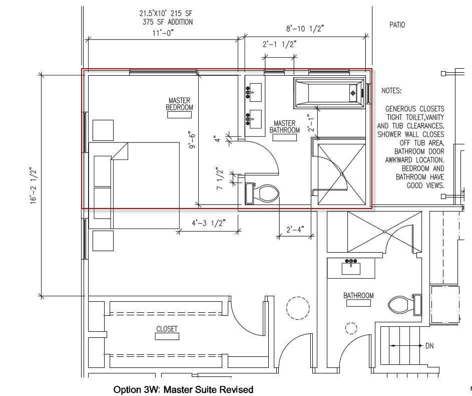 Master Suite Addition Plans