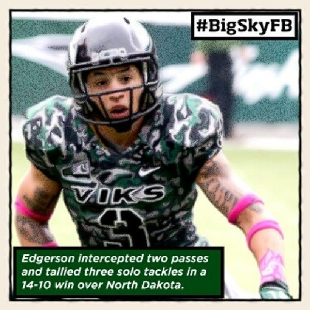 Oct. 28th - Portland State's David Edgerson is your ROOT SPORTS #BigSkyFB Defensive Player of the Week. #GoViks @Portland State University GoViks!