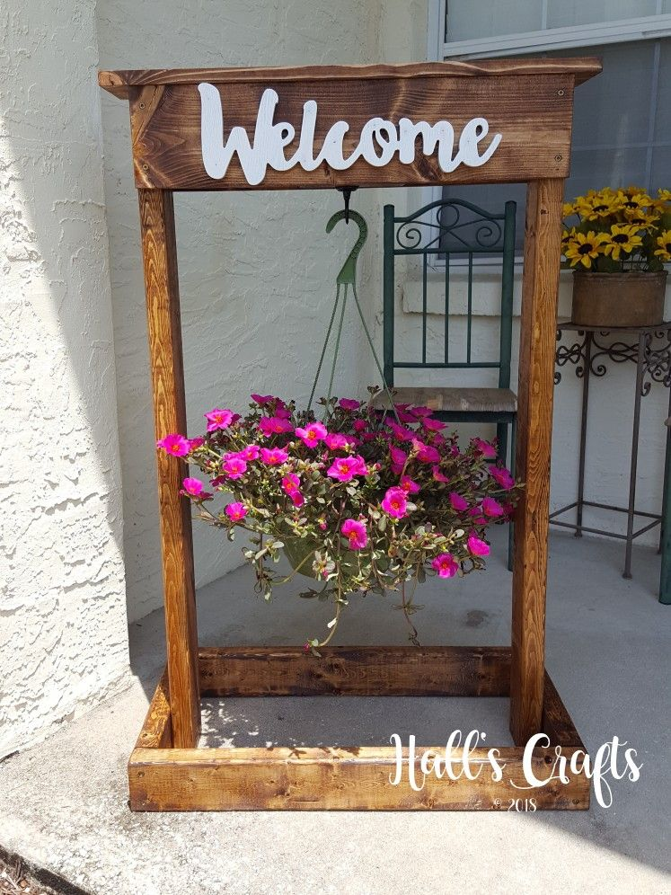 Stained Hanging Plant Stand Hanging Plants Diy Diy Plant Stand Plant Holder Diy