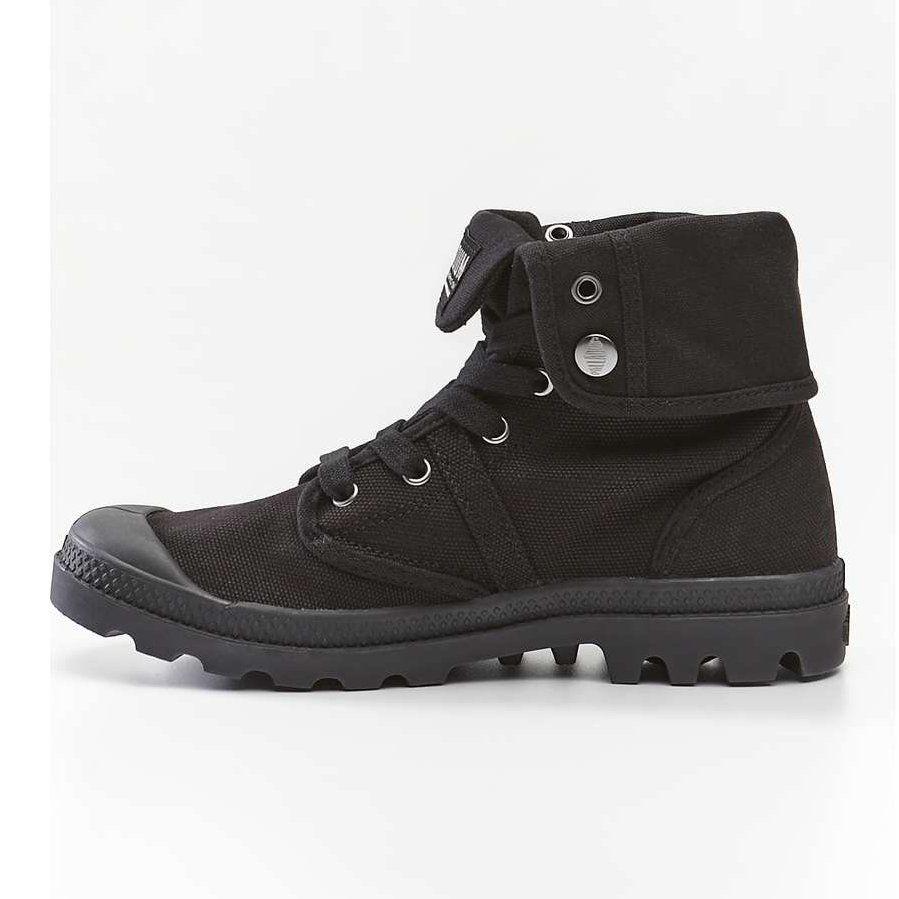 Sportowe Damskie Palladium Palladium Czarne Pallabrouse Baggy 001 Black Black Boots Hiking Boots Shoes