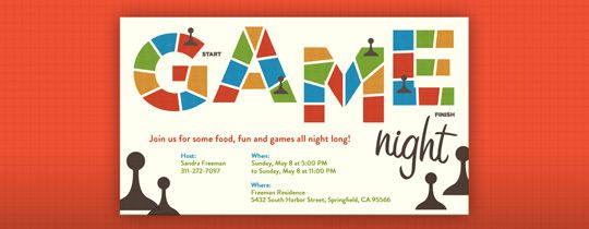 Gamer Invite Board Game Games Night Playing Invites Galore In