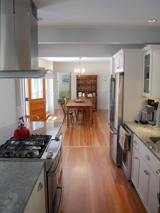 Stunning Farm House Design With Modern Interior: Stunning Galley Kitchen  Design Farmhouse In Cape Cod