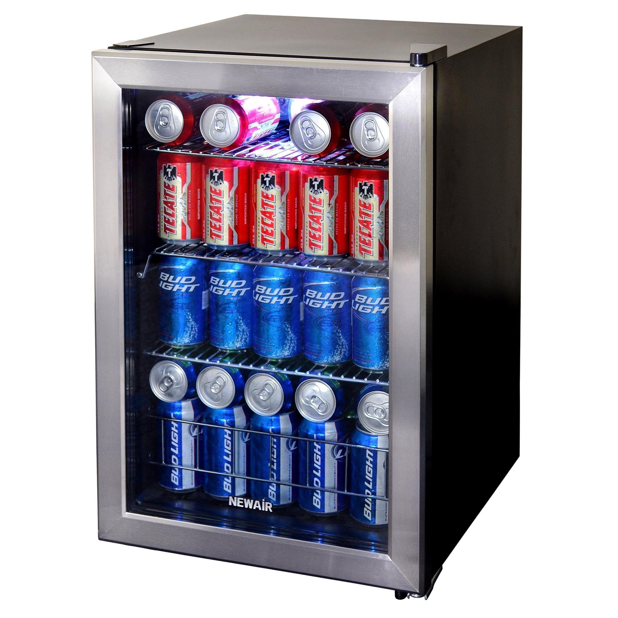Sleek Appliance Garage: Newair Appliances Stainless Steel Beverage Cooler (84 Can