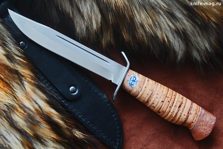 Бекас (рукоять карельская береза, тыльник и гарда алюминий