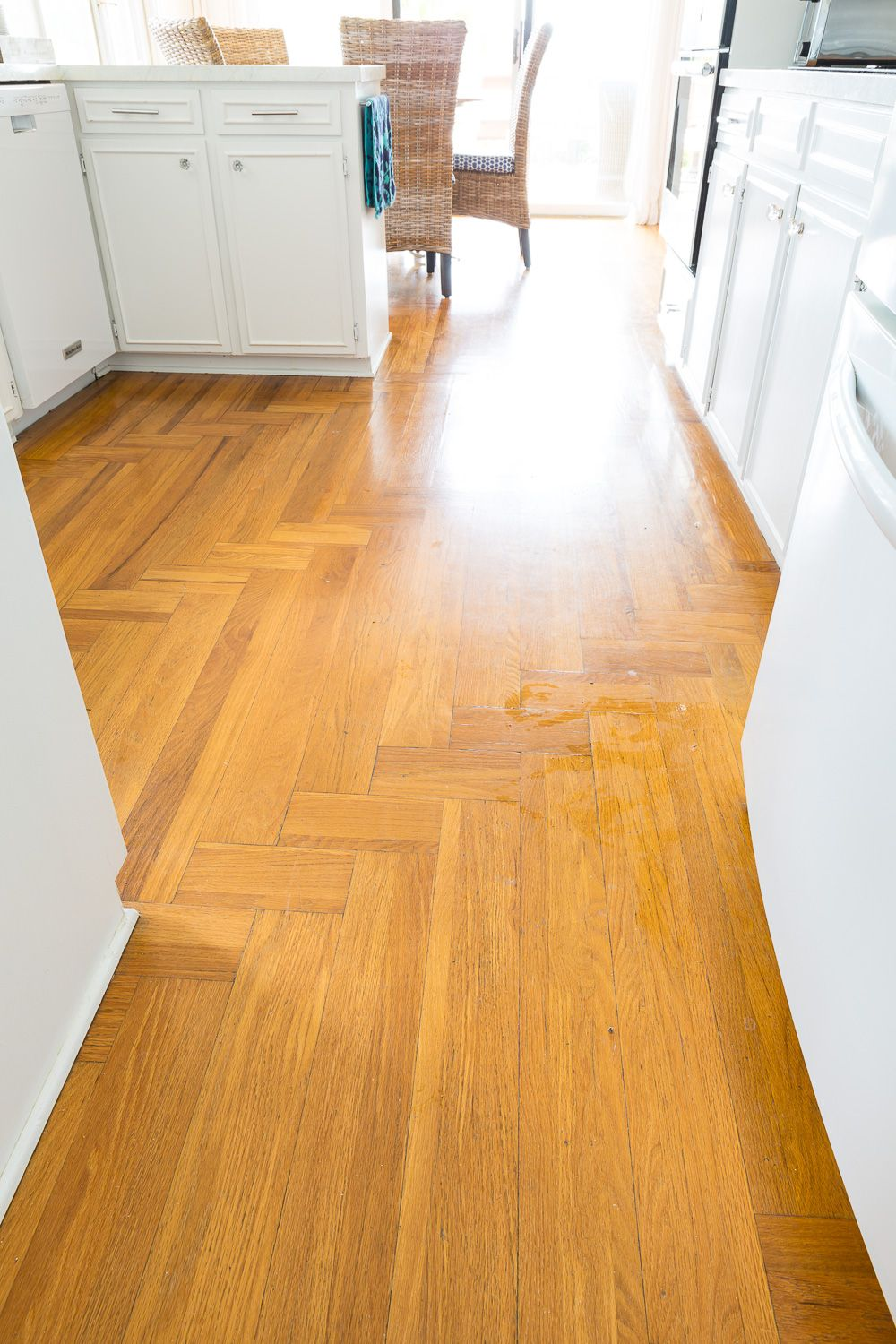 Choosing a Wood Floor Stain Color for My Kitchen & Living ...