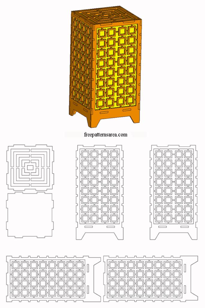 Laser Cut Light Box Amp Table Lamp Dxf Plan Cnc Project