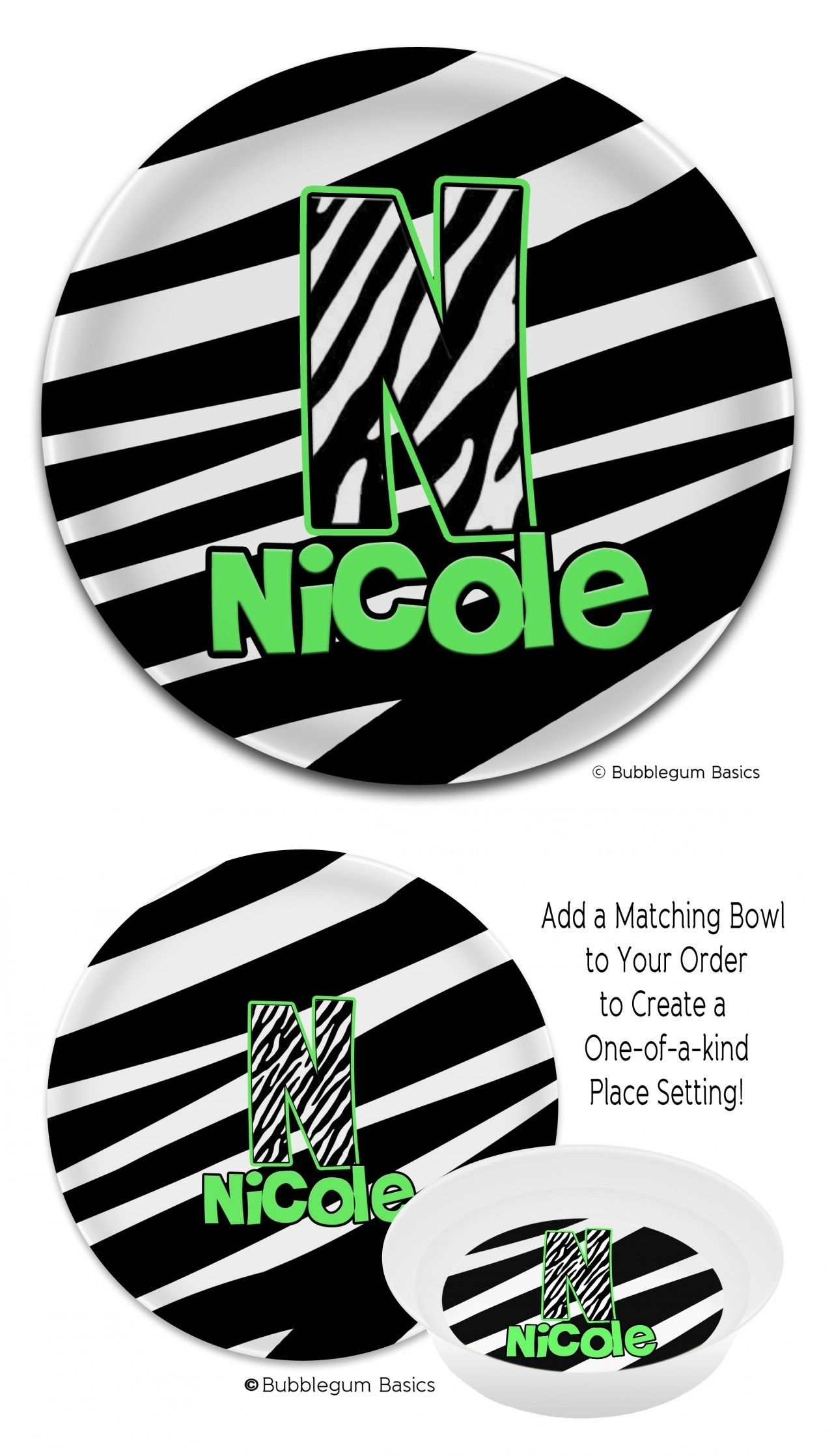 Zebra Monogram #Melamine #Plate --- Our 10\u201d Monogram Plates are non-toxic BPA-free and dishwasher safe --- A unique printing process bakes the design into ...  sc 1 st  Pinterest & Zebra Monogram #Melamine #Plate --- Our 10\u201d Monogram Plates are non ...