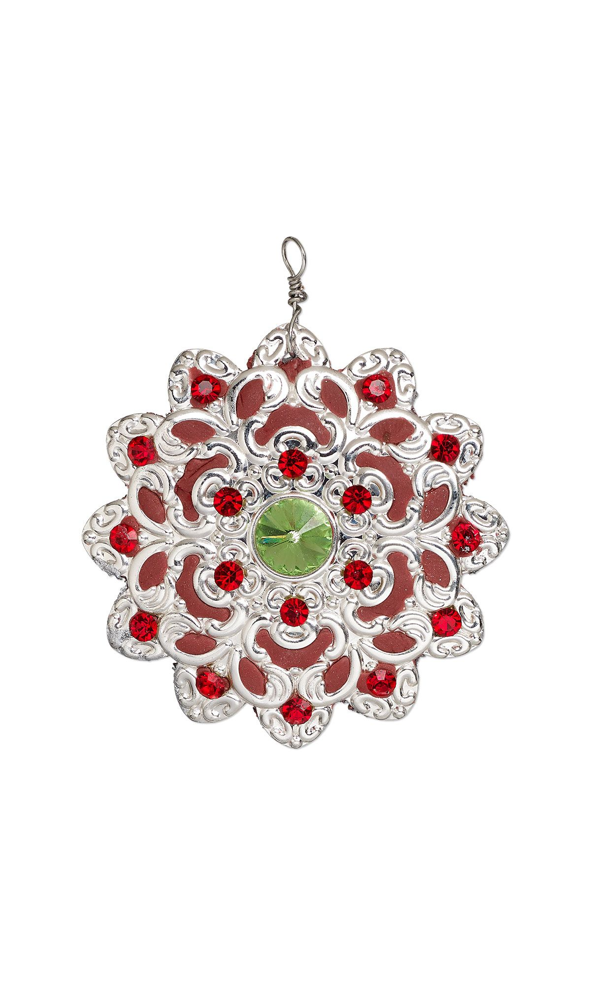 bdfe8309bfca Jewelry Design - Ornament with Silver-Plated Steel Focal