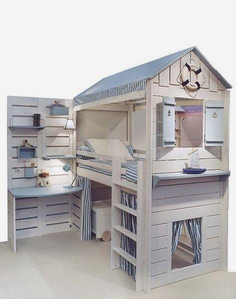 Fotos de camas originales para niños 小屋 Pinterest Camas
