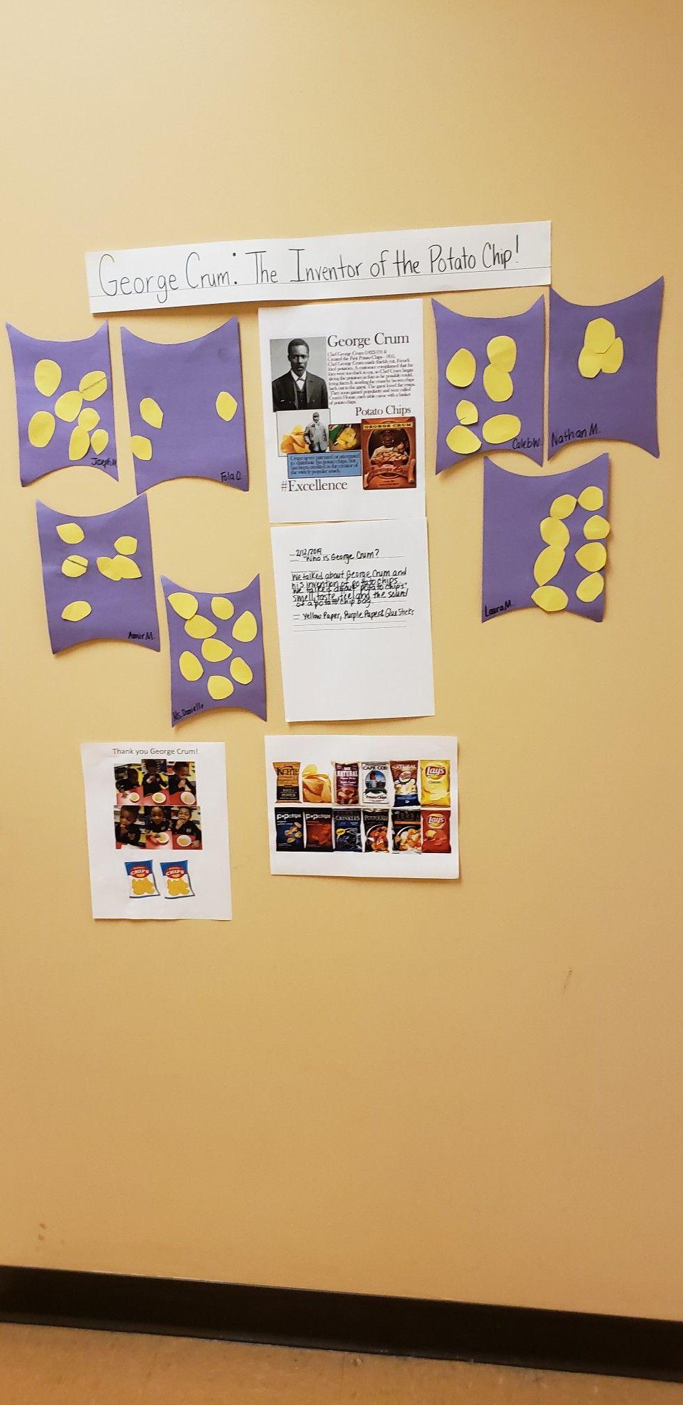 George Crum Bulletin Board Black History Month Preschool Black History Month George