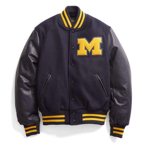 Michigan Letterman Leather Varsity Jacket