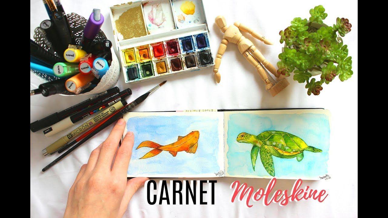Mon Carnet Moleskine Aquarelle Youtube Moleskine Aquarelle