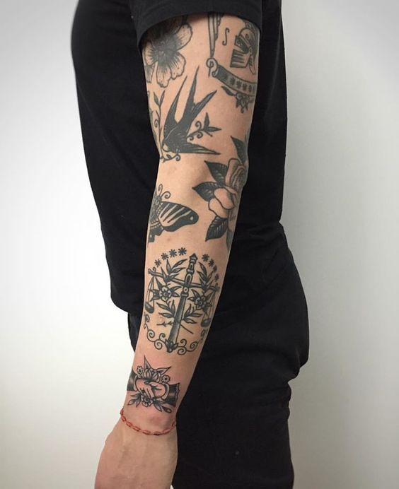 Tatuajes en todo el brazo con diseos exclusivos Tatuagens