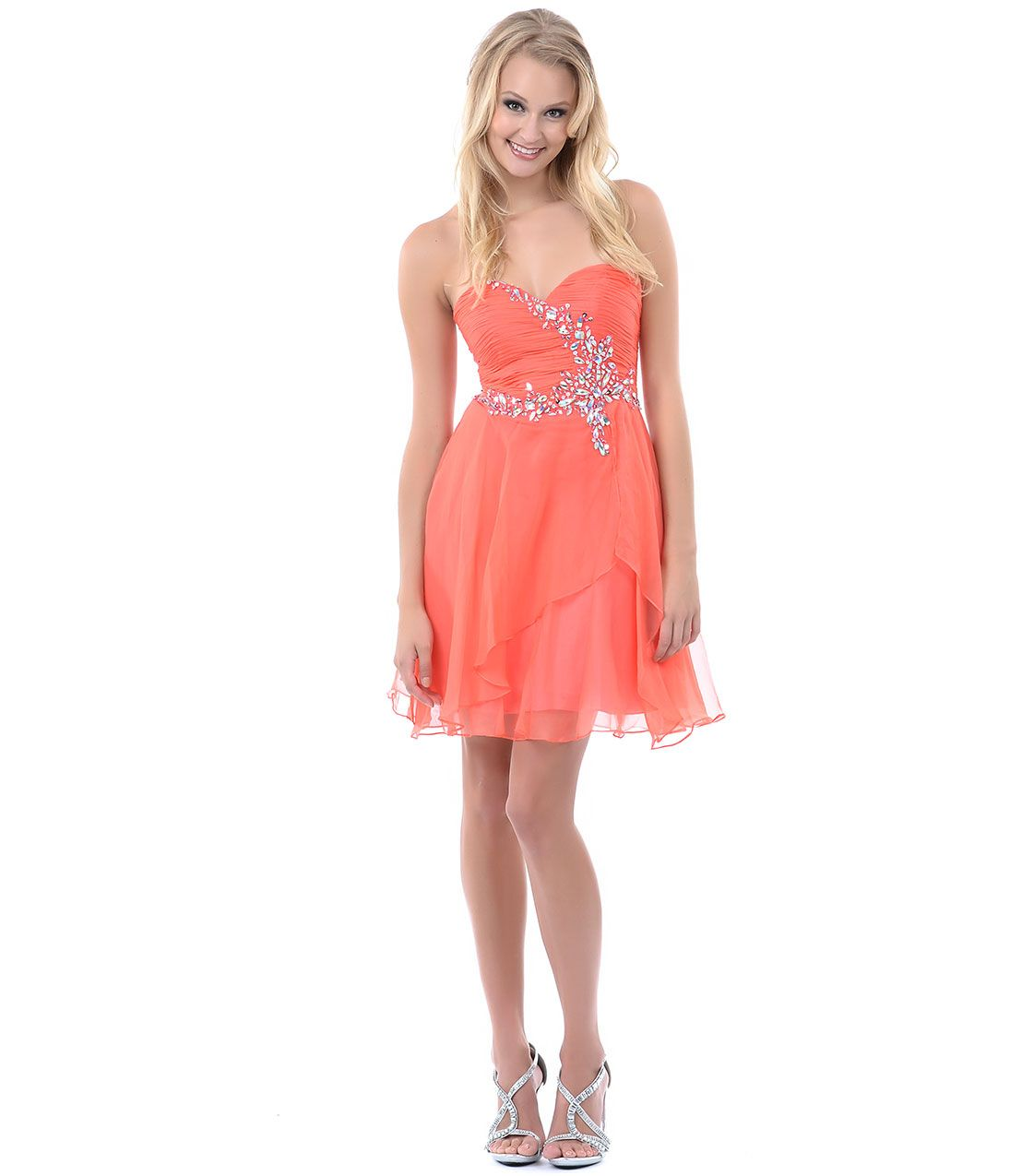 short coral prom dresses - Dress Yp