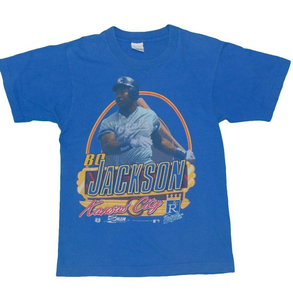 reputable site b4756 399de Vintage 1990's Bo Jackson KC Royals T-Shirt Men's Small MLB ...