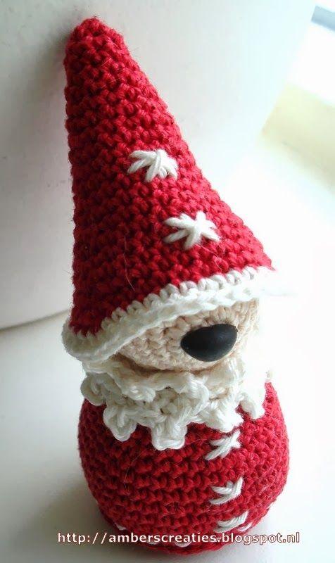 Amber\'s Creaties: Gratis Patroon 1: Mini Kerstman | haken ...