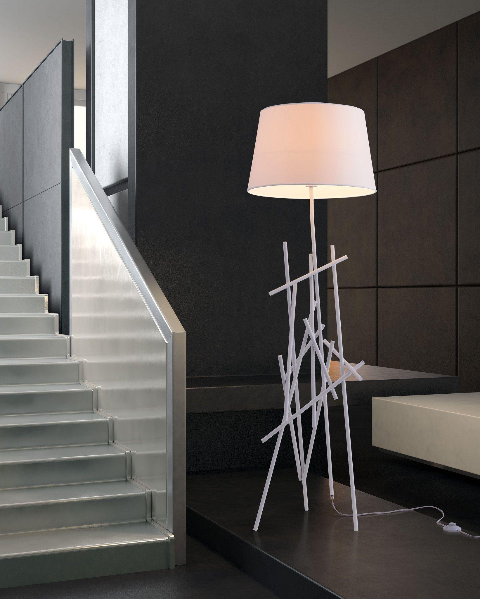 Delta Floor Lamp White In 2021 Modern Contemporary Floor Lamp White Floor Lamp Modern Floor Lamps