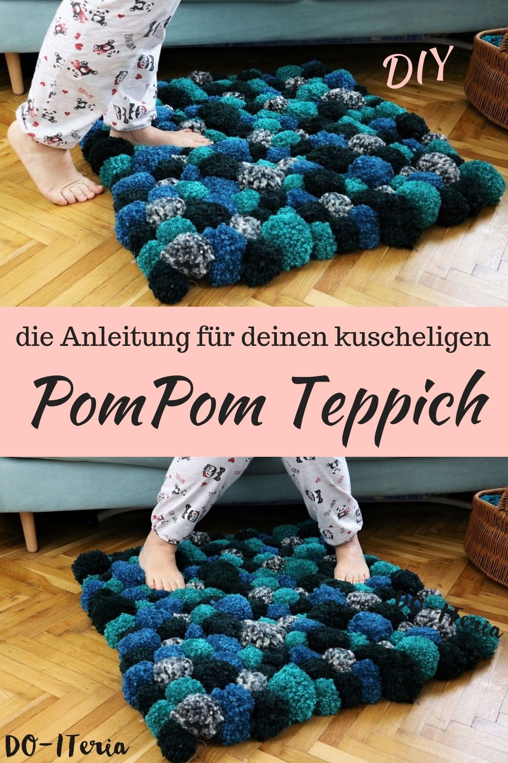 Photo of cozy DIY PomPom carpet | DO-ITeria