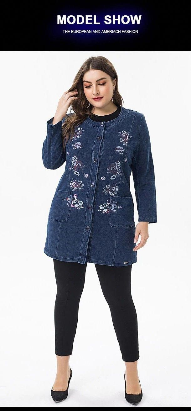 2019 Plus Size womens denim jacket and coats fashion ladies office lady Vintage #Plussize #Plussizestyle #Plussizedresses #Plussizeoutfits #Biggirlfashion #Curvygirlfashion #Fashionoutfits #Curvyoutfits #Cuteplussizeoutfits #Summeroutfitsplussize #Plussizeworkoutfits #Plussizeskirts #Plussizewinteroutfits #Plussizefashionforwomen #Plussizefallfashion #fashionoutfitsplussizemen