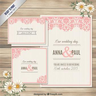 Tarjeta de invitaci³n de boda ornamental Vector