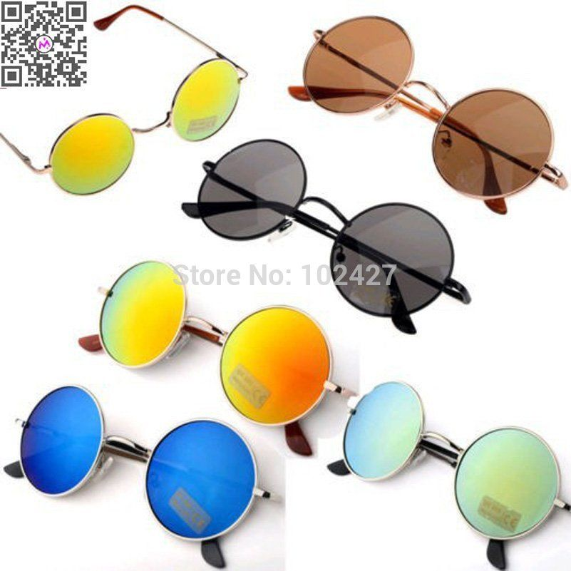 2c42b92de0 Descuento promocional 2015 Venta Caliente de La Manera gafas de Sol Unisex  Hippie Shades Hippy 60 S John Lennon Estilo gafas de Sol Redondas Vintage