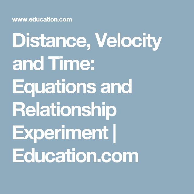 distance time walking relationship experimentation 4 msa 12: walking rates and linear relationships - tables, graphs, and equations think about the effect a walking rate has on the relationship between time walked and distance walked.