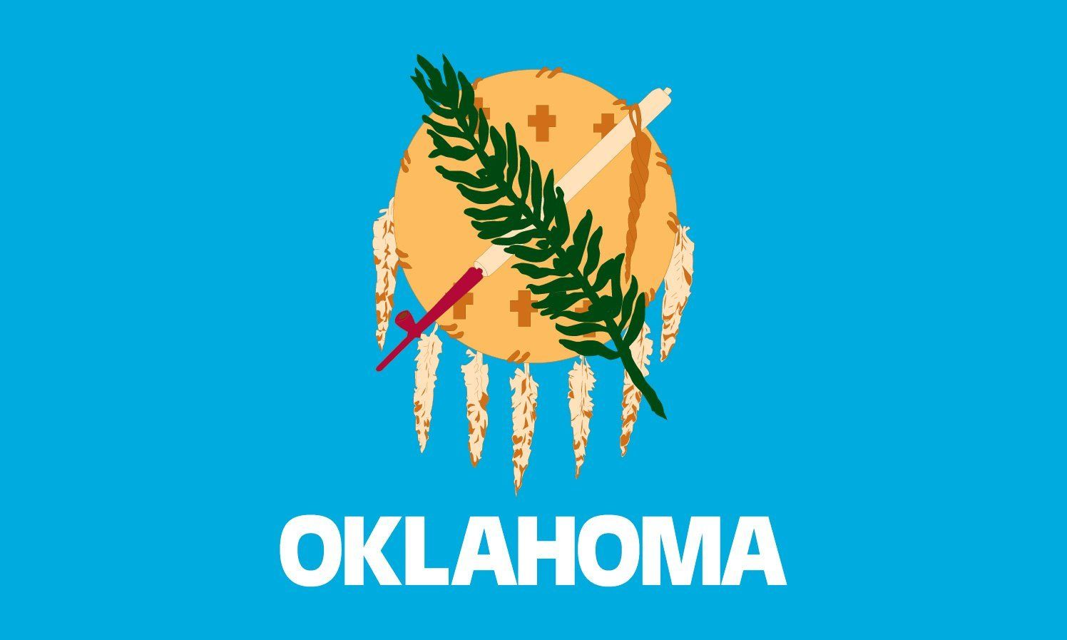 Oklahoma state flag coloring pages flags coloring and oklahoma