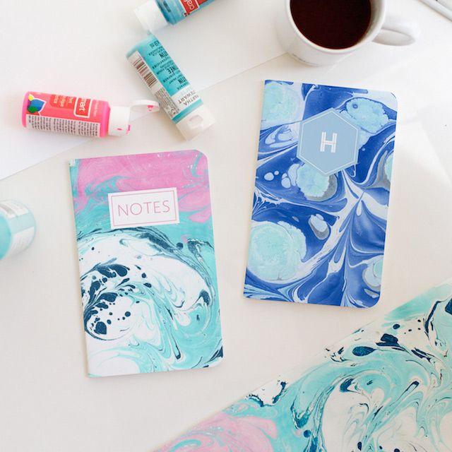 How To Make Marbled Paper Marble Paper School Diy Diy Notebook