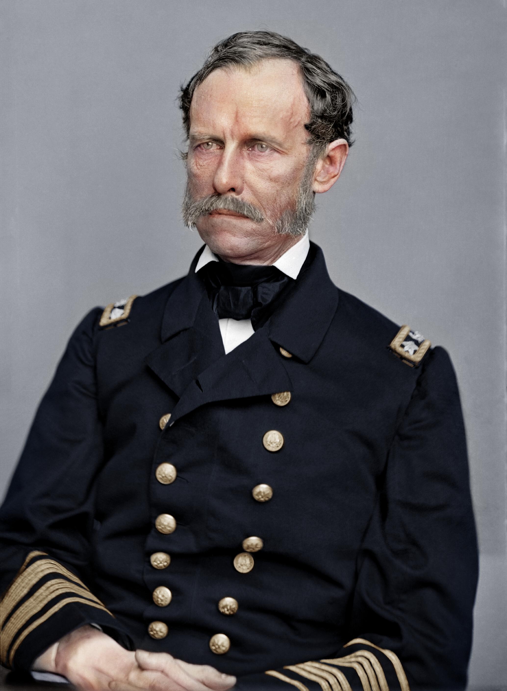 John A. Dahlgren. http://historyrestored.tumblr.com  - United States Navy officer who initiated major advances in gunnery, as founder of the U.S. Navy's Ordnance Department.