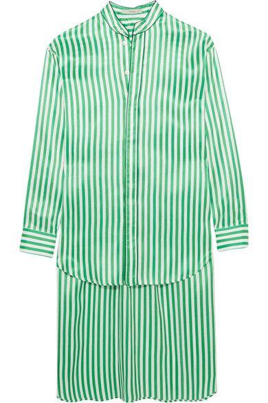 37057e45b5bd0 ETRO Oversized striped silk shirt.  etro  cloth  tops White Silk