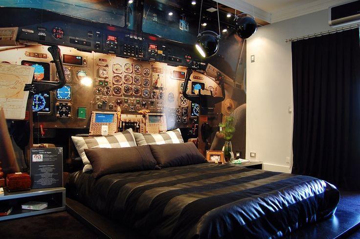 Boy Bedroom Ideas Theme Spaceship Bedroom Makeover Airplane