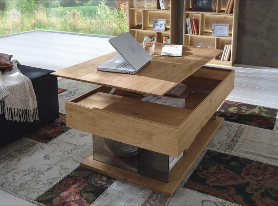 sch n couchtisch holz h henverstellbar wohnung pinterest living room table und home. Black Bedroom Furniture Sets. Home Design Ideas