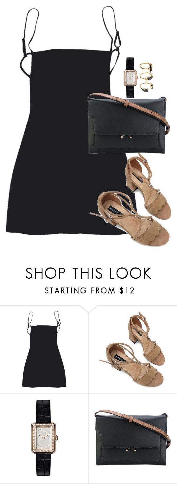 """Unbenannt #2397"" by luckylynn-cdii ❤ liked on Polyvore featuring Chanel, Marni and Noir Jewelry"
