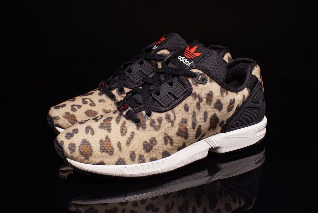 The latest version of the adidas Originals ZX Flux comes with a Cheetah  print upper that is sure to be a favorite.