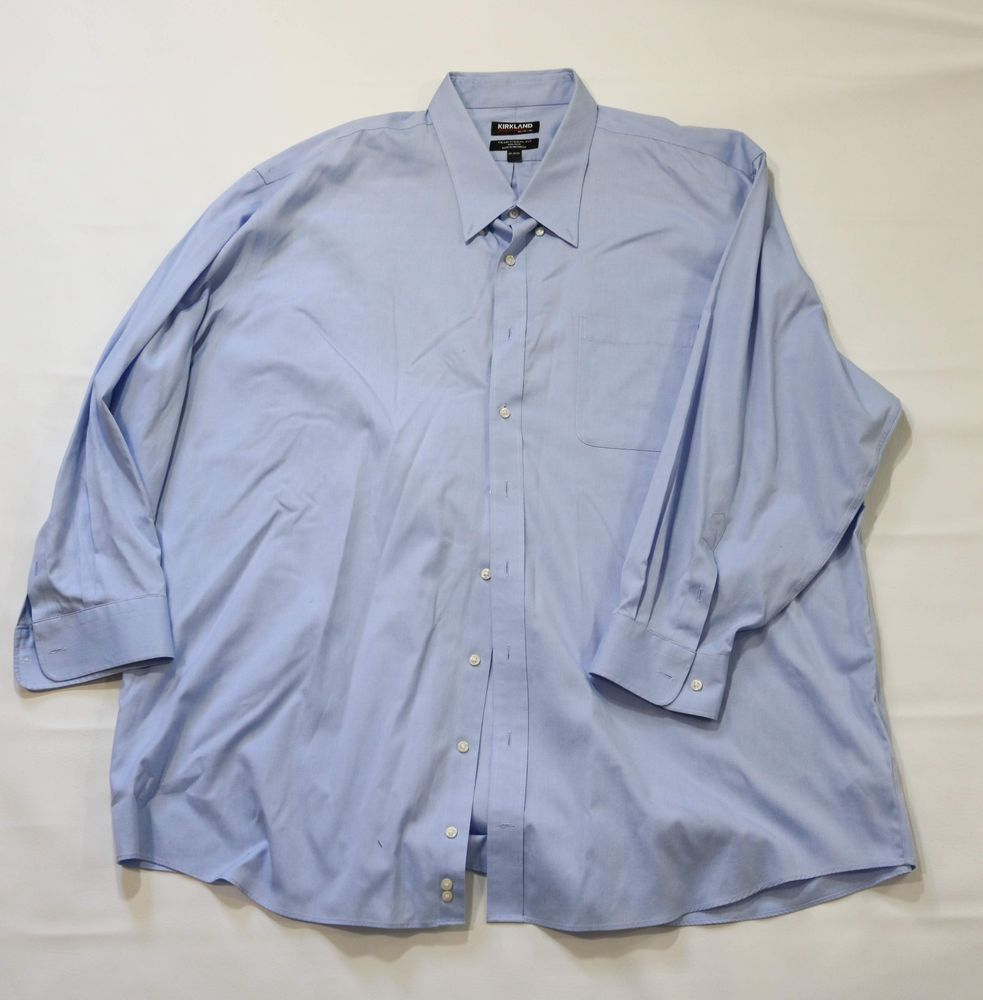 Details About Big And Tall Mens Dress Shirt Long Sleeve Sizes