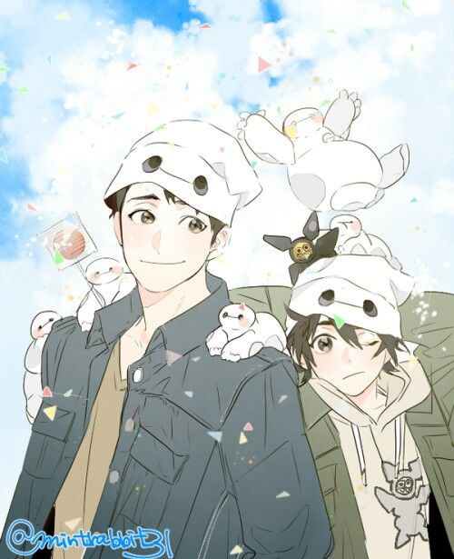 Tadshi and Hiro all the little Baymax's