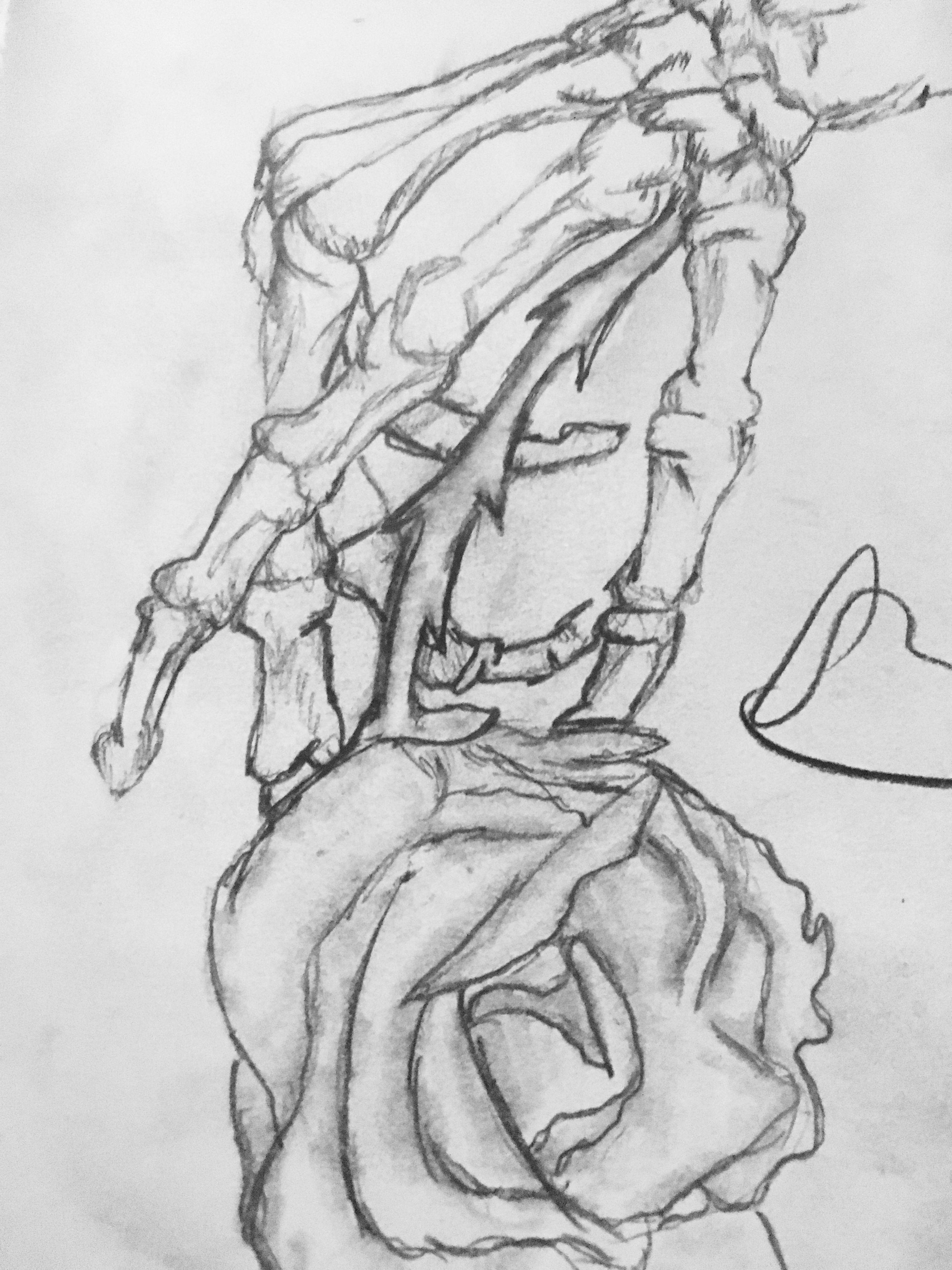 Skeleton Hand Holding Rose 🥀