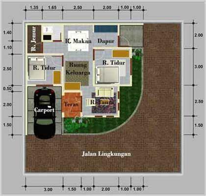desain rumah minimalis posisi pojok rumah minimalis