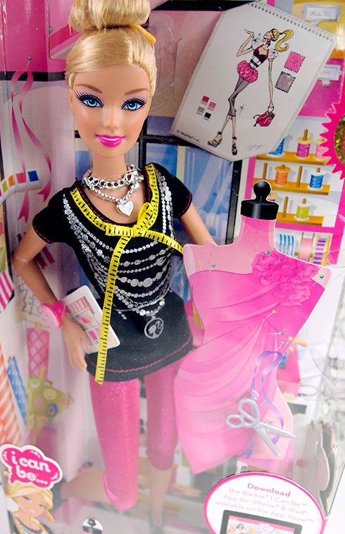 I Can Be A Fashion Designer Blonde Barbie Nib 2011 Barbie Fashion Barbie Playsets Dollhouse Clothes