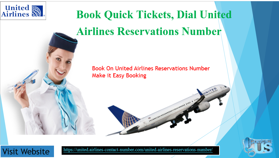 United Airlines Reservations Number | Airline reservations ...