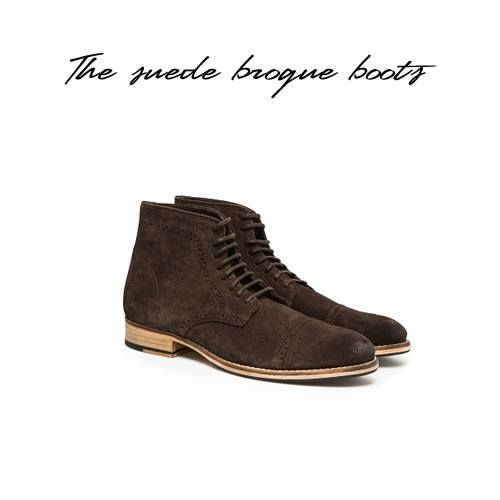 Para tus #looks más #otoñales cálzate estos #botines tan bonitos de #ante! Perfectos para ir al trabajo @MANGO #CCELSALER #boots #men www.hebymango.com